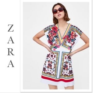 Zara Floral Sleeveless Tunic Dress